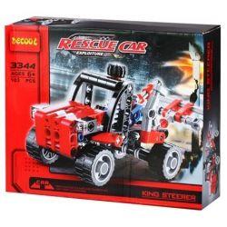 Decool 3344 Technic 8065 Mini Container Truck Xếp hình xe ô tô cứu hộ 103 khối