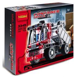 Decool 3345 Technic 8065 Mini Container Truck style 2 Xếp hình xe tải nhỏ 119 khối
