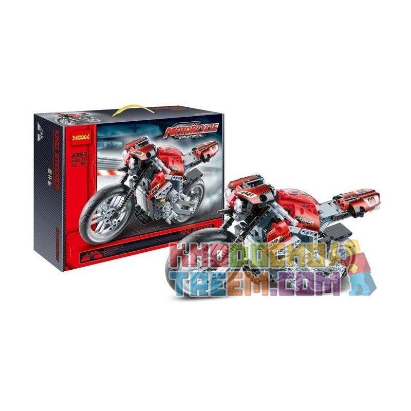 Decool 3353 Technic 8051 Motorbike Xếp hình xe mô tô đua giải Grand Prix 431 khối
