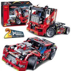 Decool 3360 Technic 8041 42041 Race Truck Xếp hình 2 dạng xe SUV đua và xe tải đua 608 khối