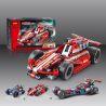 Decool 3412 Sheng Yuan 7011A (NOT Lego Technic 42011 Race Car ) Xếp hình Xe Ô Tô Đua Kéo Thả 158 khối