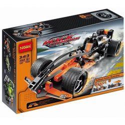 Decool 3413 Double Eagle CaDa C52001 Technic 42026 Black Champion Racer Xếp hình xe ô tô đua màu đen vô địch kéo thả 137 khối