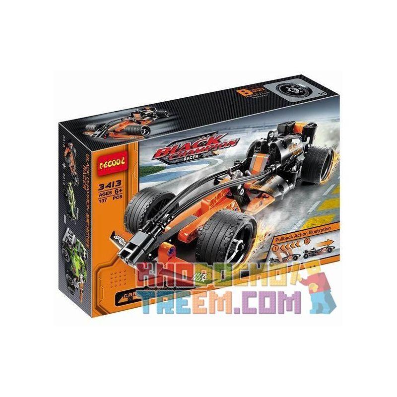 Decool 3413 DoubleE C52001 Sheng Yuan 7010B Technic 42026 Black Champion Racer Xếp Hình Xe ô Tô đua Màu đen Vô địch Kéo Thả 137 Khối