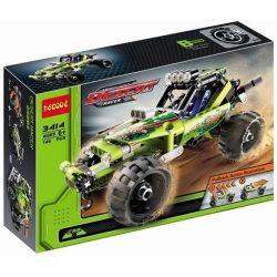 Decool 3414 Double Eagle CaDa C52002 Technic 42027 Desert Racer Xếp hình xe ô tô đua sa mạc kéo thả 148 khối