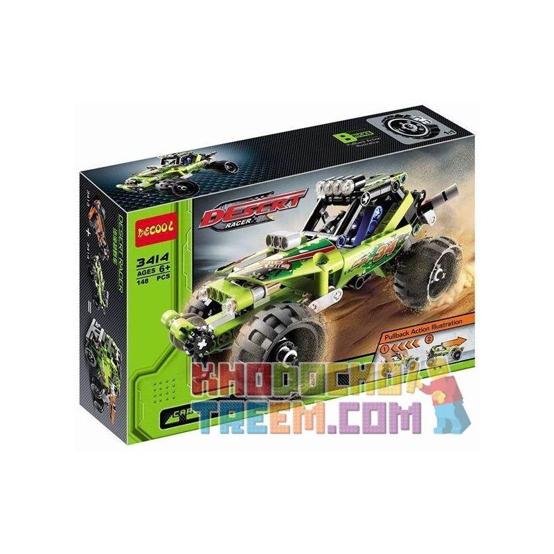 Decool 3414 Doublee Cada C52002 C52002W Sheng Yuan 7011B (NOT Lego Technic 42027 Desert Racer ) Xếp hình Xe Ô Tô Đua Sa Mạc Kéo Thả 148 khối
