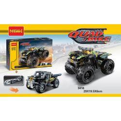 Lego Technic 42034 Decool 3416 Double Eagle CaDa C52004 Quad Bike Xếp hình xe mô tô 4 bánh kéo thả 148 khối
