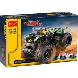 Decool 3416 Double Eagle CaDa C52004 Technic 42034 Quad Bike Xếp hình xe mô tô 4 bánh kéo thả 148 khối