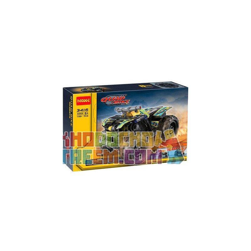 Decool 3416 Doublee Cada C52004 C52004W (NOT Lego Technic 42034 Quad Bike ) Xếp hình Xe Mô Tô 4 Bánh Kéo Thả 148 khối