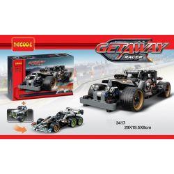 Lego Technic 42046 Decool 3417 Getaway Racer Xếp hình xe ô tô ma tốc độ kéo thả 170 khối