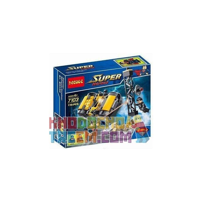 Decool 7103 Super Heroes 76002 Superman Metropolis Showdown Xếp hình Siêu Nhân chiến đấu trong thành phố 119 khối