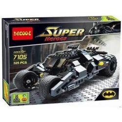 Decool 7105 Super Heroes 7888 The Tumbler: Joker's Ice Cream Surprise Xếp hình siêu xe Tumbler của người Dơi 325 khối