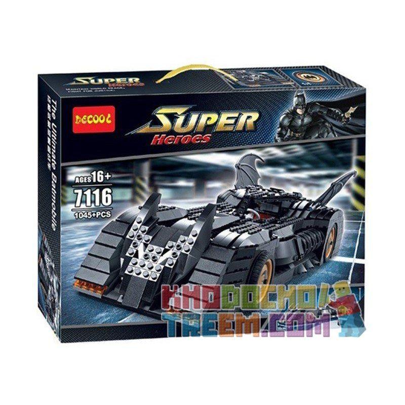 Decool 7116 Super Heroes 7784 The Batmobile Ultimate Collectors' Edition Xếp hình siêu xe của người Dơi 1045 khối