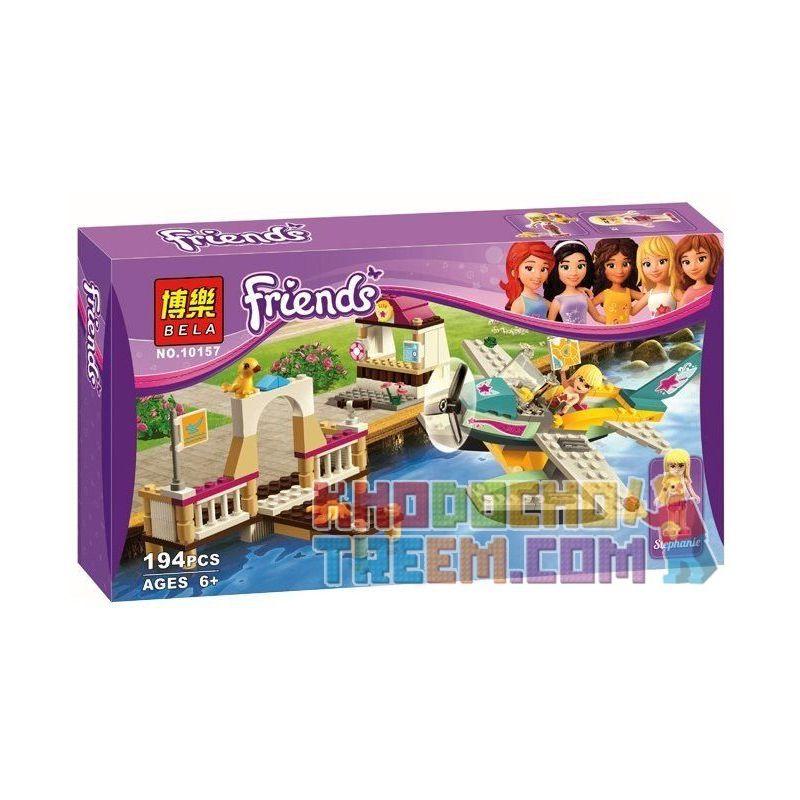 Bela 10157 (NOT Lego Friends 3063 Heartlake Flying Club ) Xếp hình Câu Lạc Bộ Máy Bay Hồ Trái Tim 195 khối