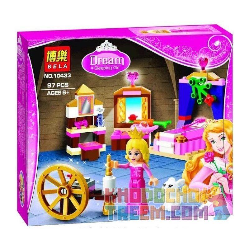 Bela 10433 Disney Princess 41060 Sleeping Beauty's Royal Bedroom Xếp hình phòng ngủ công chúa ngủ trong rừng 97 khối