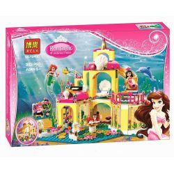 Bela 10436 Sheng Yuan SY374 Jiego JG306 Lele 79278 Lepin 25016 Disney Princess 41063 Ariel's Undersea Palace Xếp hình lâu đài dưới nước của nàng tiên cá Ariel 383 khối