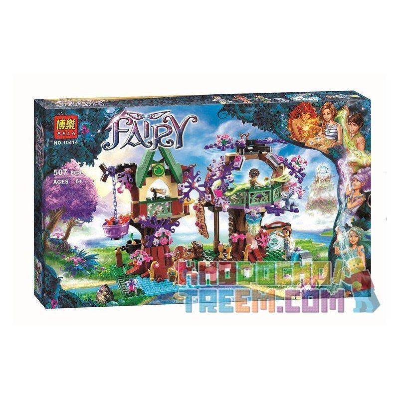 Bela 10414 (NOT Lego Elves 41075 The Elves' Treetop Hideaway ) Xếp hình Ngôi Nhà Ẩn Trên Ngọn Cây 507 khối
