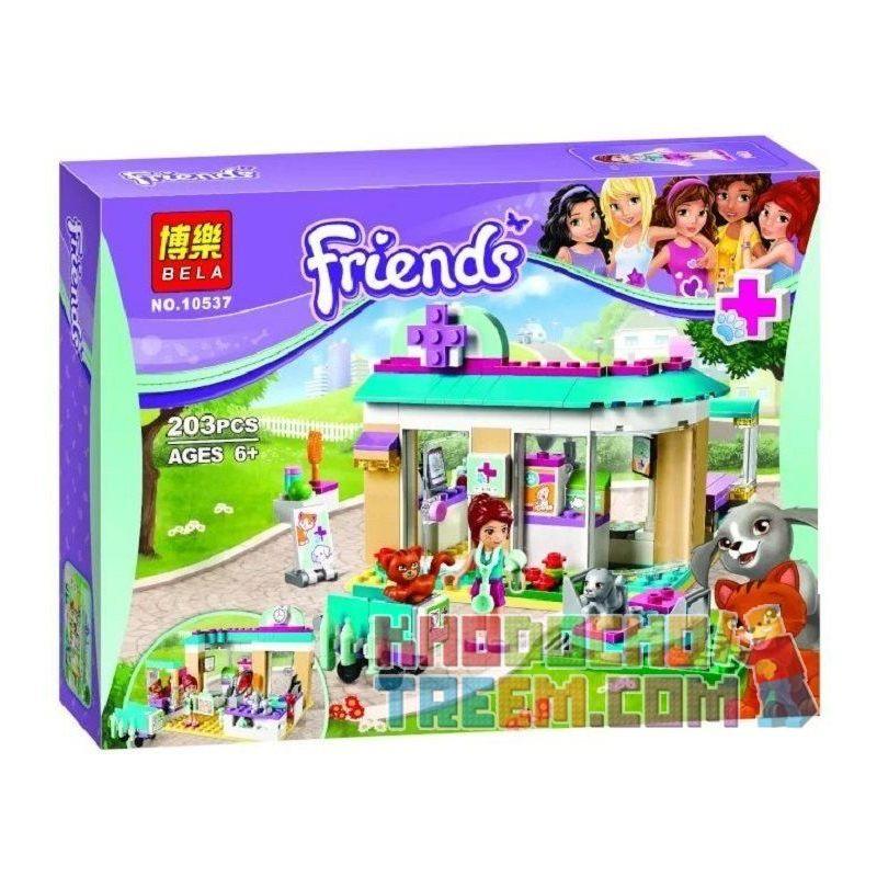 Bela 10537 Friends 41085 Vet Clinic Xếp hình phòng khám thú nuôi 203 khối