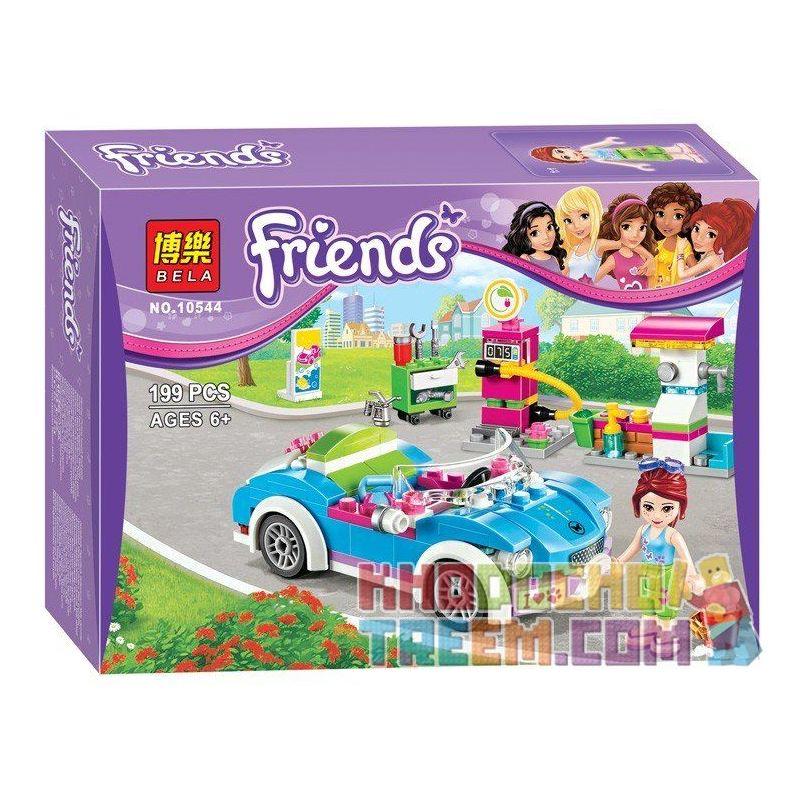 Bela 10544 Friends 41091 Mia's Roadster Xếp hình Mia rửa xe ô tô 199 khối