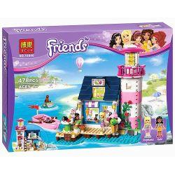 Bela 10540 Lele 79161 Friends 41094 Heartlake Lighthouse Xếp hình Hải đăng Hồ Trái Tim 478 khối