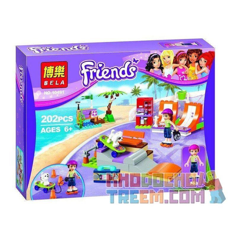 Bela 10491 (NOT Lego Friends 41099 Heartlake Skate Park ) Xếp hình Công Viên Trượt Ván Patin Hồ Trái Tim 202 khối