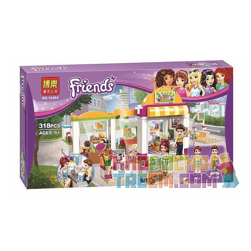 Bela 10494 Lepin 01001 Lele 37012 Friends 41118 Heartlake Supermarket Xếp hình siêu thị Hồ Trái Tim 318 khối