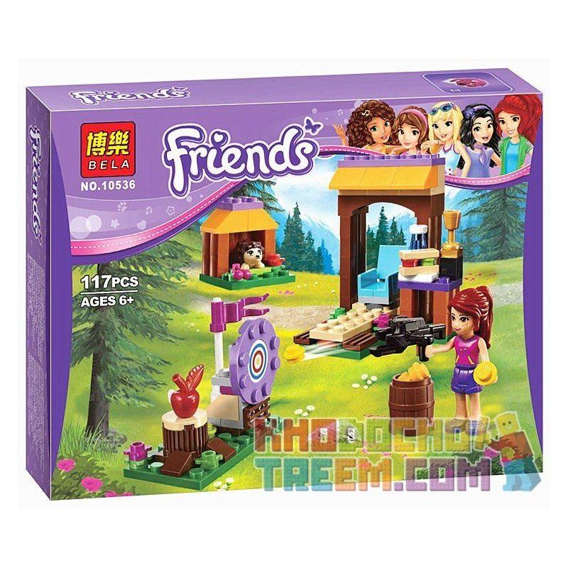 Bela 10536 Lepin 01005 (NOT Lego Friends 41120 Adventure Camp Archery ) Xếp hình Chơi Bắn Cung Ở Nơi Cắm Trại 117 khối