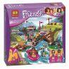 Lego Friends 41121 Bela 10493 Lepin 01003 Sheng Yuan SY831 Adventure Camp Rafting Xếp hình chèo thuyền cắm trại 325 khối