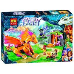 Bela 10503 Elves 41175 Fire Dragon's Lava Cave Xếp Hình Hang Nham Thạch Của Rồng Lửa 446 Khối