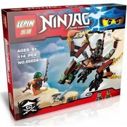 Lepin 06024 Bela 10447 Lele 79227 Ninjago Movie 70599 Cole's Dragon Xếp Hình Rồng Đất Của Cole 114 Khối