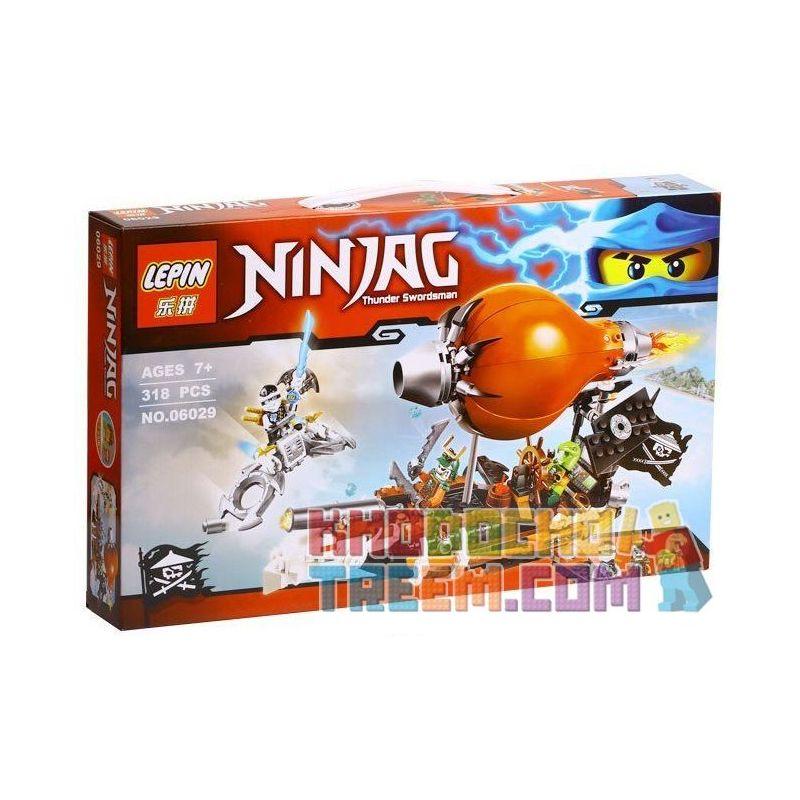 Lepin 06029 Bela 10448 Sheng Yuan SY540 Lele 79231 Ninjago Movie 70603 Thunder Swordsman Airship Xếp Hình Tấn Công Khinh Khí Cầu Hải Tặc 318 Khối