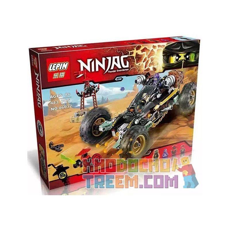 Lepin 06032 Bela 10524 Sheng Yuan 594 SY594 (NOT Lego Ninjago Movie 66548 Rock Roader ) Xếp hình Siêu Xe Địa Hình Của Cole Rx 443 khối