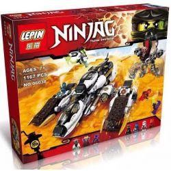 Lepin 06038 Bela 10529 Lele 79347 Sheng Yuan SY593 Ninjago Movie 70595 Ultra Stealth Raider Xếp hình Cỗ Xe Chiến Đấu Tàng Hình 1167 khối