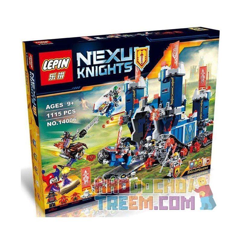 Lepin 14006 Bela 10490 Lele 79241 Lero 13001A Sheng Yuan 568 SY568 (NOT Lego Nexo Knights 70317 The Fortrex ) Xếp hình Pháo Đài Khổng Lồ Kiên Cố Của Các Hiệp Sĩ 1140 khối