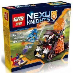 Lepin 14009 Bela 10474 Lele 79235B Nexo Knights 70311 Chaos Catapult Xếp Hình Cỗ Xe Bắn đá 107 Khối