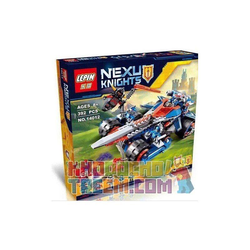 LEPIN LEGO NEXU KNIGHTS NO14012. Lepin 14012 Bela 10488 Lele 79239 Sheng Yuan SY566 Nexo Knights 70315 Clay's Rumble Blade Xếp