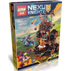 Lepin 14018 Decool 8017 Bela 10518 Lele 79307 Nexo Knights 70321 General Magmar's Siege Machine of Doom Xếp hình pháo đài hủy diệt quỷ nham thạch 544 khối