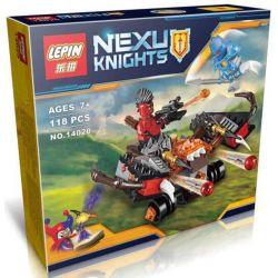 Lepin 14020 Bela 10515 Nexo Knights 70318 The Glob Lobber Xếp hình Xe tấn công quỷ dữ 118 khối