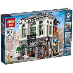 Lepin 15001 Modular Buildings 10251 Brick Bank Xếp hình Ngân Hàng 2413 khối