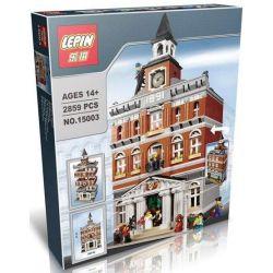 Lepin 15003 Creator Expert Modular Buildings 10224 Town Hall Xếp hình tòa thị chính 2859 khối