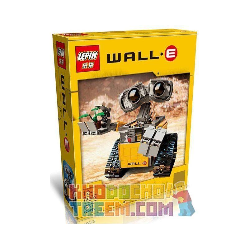 Lepin 16003 Lele 39023 Yile 407 Sheng Yuan 7007 (NOT Lego Ideas 21303 Wall-E ) Xếp hình Rô Bốt Wall-E Có Điều Khiển Từ Xa 687 khối