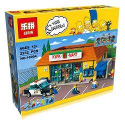 Lepin 16004 (NOT Lego The Simpsons 71016 Kwik-E-Mart ) Xếp hình Siêu Thị Kwik-E-Mart 2232 khối