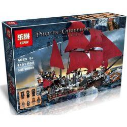 Lepin 16009 Lele 39008 Pirates 4195 Queen Anne's Revenge Xếp hình con tàu sự trả thù của nữ hoàng Anne 1151 khối