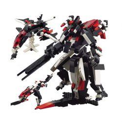 Lego Creator 3 in 1 Gudi 8119 transformers 3 in 1 Xếp hình rô bốt biến hình thành phi thuyền thú 438 khối