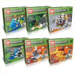 Lego Minecraft MOC Lepin 18007 6 in 1 Xếp hình 6 trong 1 418 khối