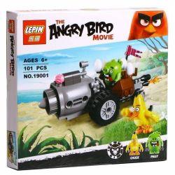 Lepin 19001 Bela 10505 Angry Birds 75821 Piggy Car Escape Xếp hình Cuộc Tẩu Thoát Của Siêu Trộm Trứng Piggy 101 khối