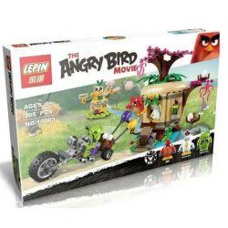 Lepin 19003 Angry Birds 75823 Bird Island Egg Heist Xếp hình Siêu Trộm Lợn Xanh Đột Nhập Hòn Đảo Loài Chim 305 khối