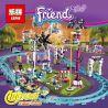 Lego Friends 41130 Lepin 01008 Amusement Roller Coaster Xếp hình tàu lượn đu quay tròn đứng đu quay thả 1124 khối