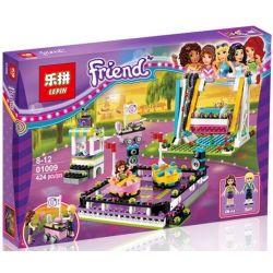 Lepin 01009 Sheng Yuan 839 SY839 Bela 10560 (NOT Lego Friends 41133 Amusement Park Bumper Cars ) Xếp hình Trò Chơi Đụng Xe, Xích Đu 424 khối