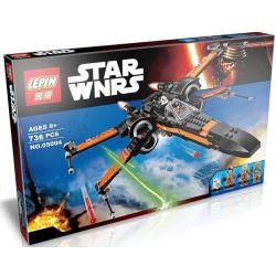 Lepin 05004 Bela 10466 Lele 79209 Star Wars 75102 Poe's X-Wing Fighter Xếp hình phi thuyền tấn công cánh chữ X 736 khối