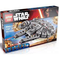 Lepin 05007 Bela 10467 Lele 79211 Star Wars 75105 Millennium Falcon Xếp hình phi thuyền chim ưng ngàn tuổi vừa 1381 khối